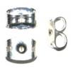 Earring Clutch Butterfly Silver (Nickel Free) (Brass & Tin)